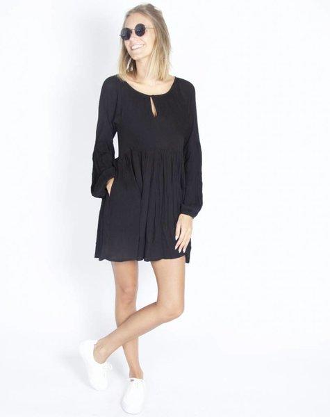 FLOWY BOHO DRESS BLACK