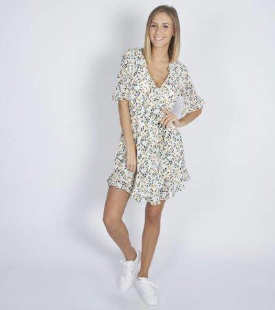 OFF WHITE DAISY DRESS