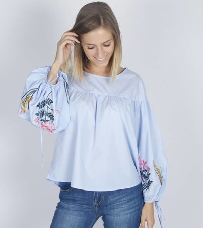 BLUE ROSY BLOUSE