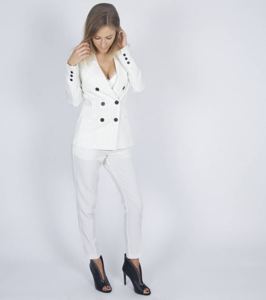 WHITE CHALKINE COSTUME TROUSERS