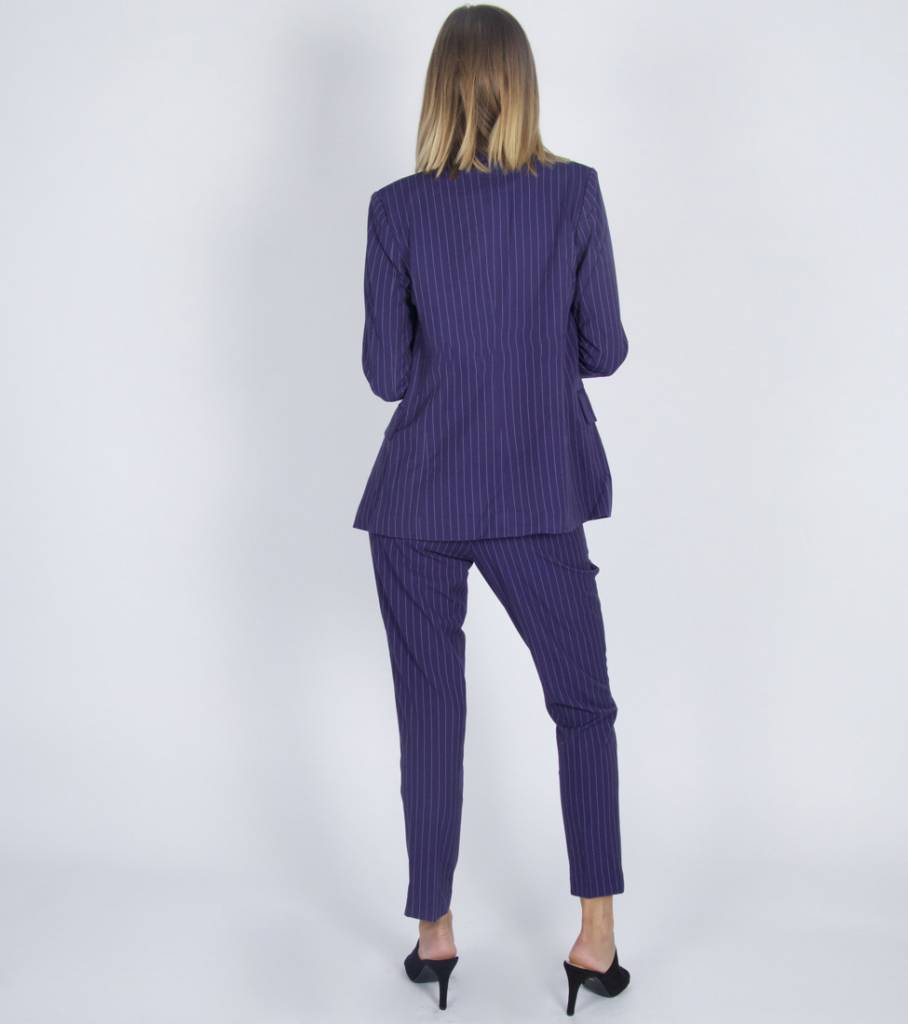 BLUE CHALKINE COSTUME BLAZER