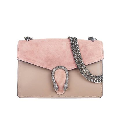 DRAGON PINK LEATHER BAG