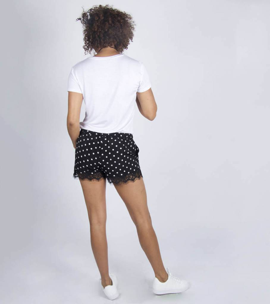DOTTED LACE SHORTS