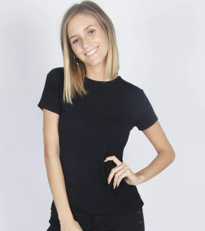 BLACK BASIC TSHIRT