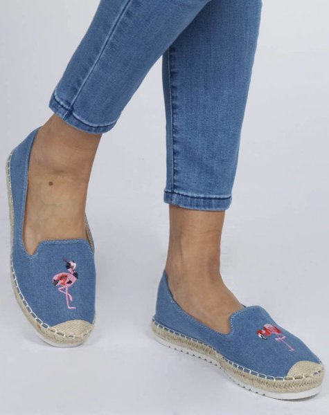 BLUE EMBROIDERED ESPADRILLE