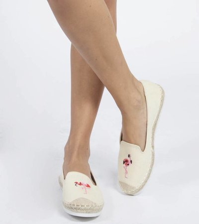 BEIGE EMBROIDERED ESPADRILLE