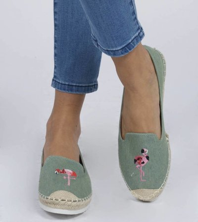 GREEN EMBROIDERED ESPADRILLE