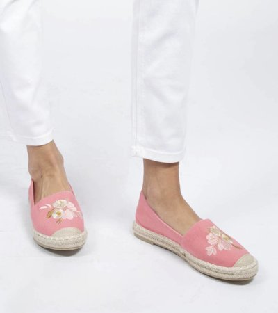 PINK EMBROIDERED ESPADRILLE