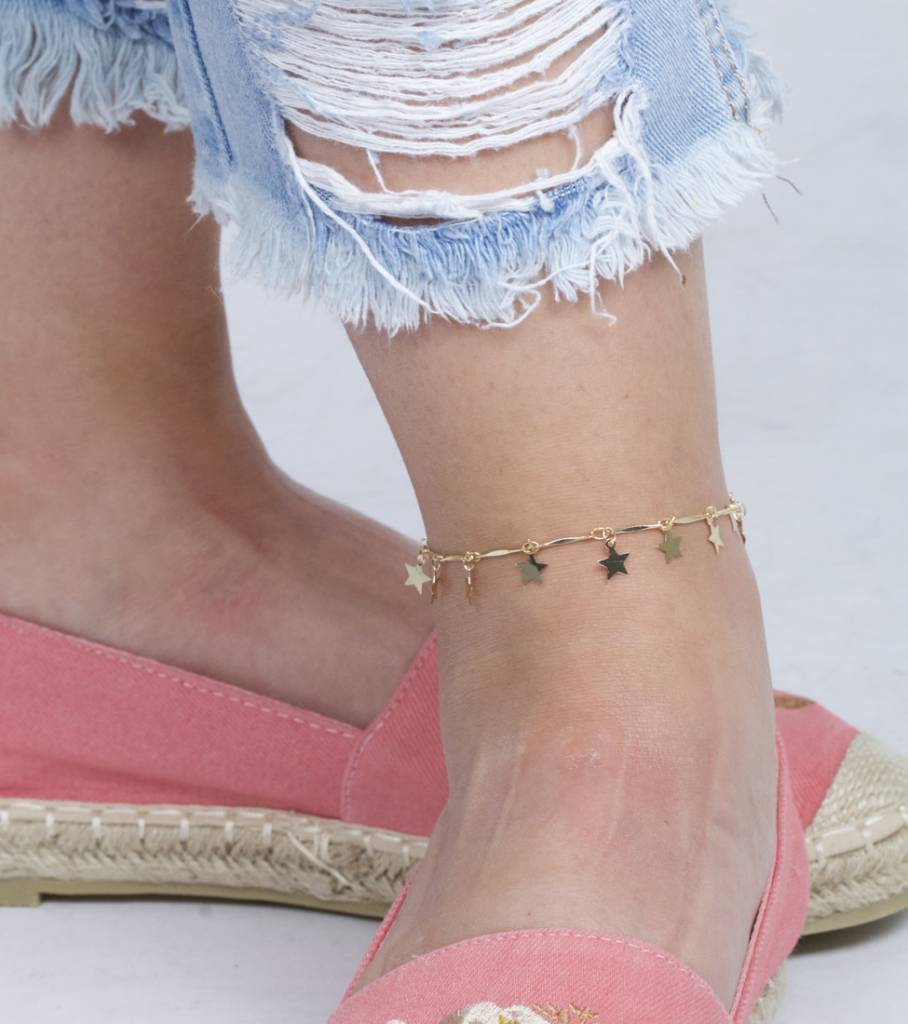 GOLD STARRY ANKLET