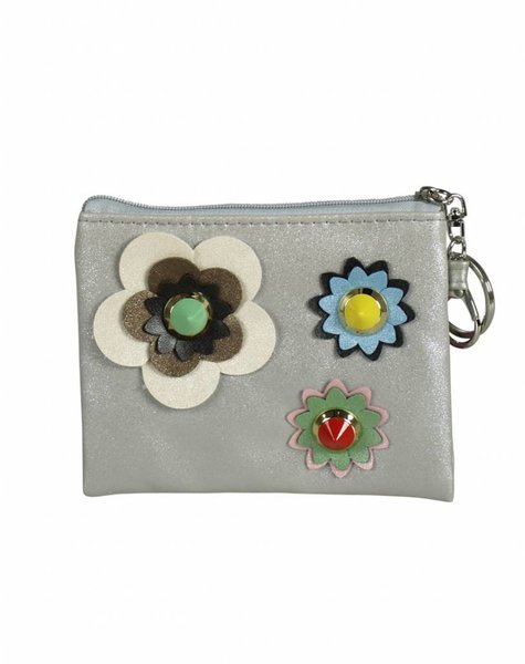 MINI FLOWER SILVER WALLET