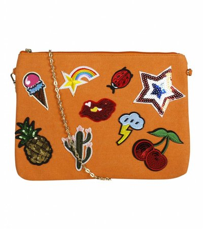 POW PATCH CLUTCH ORANGE