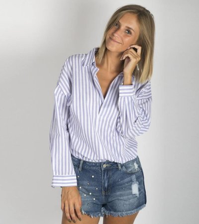STRIPED OF RED BLOUSE