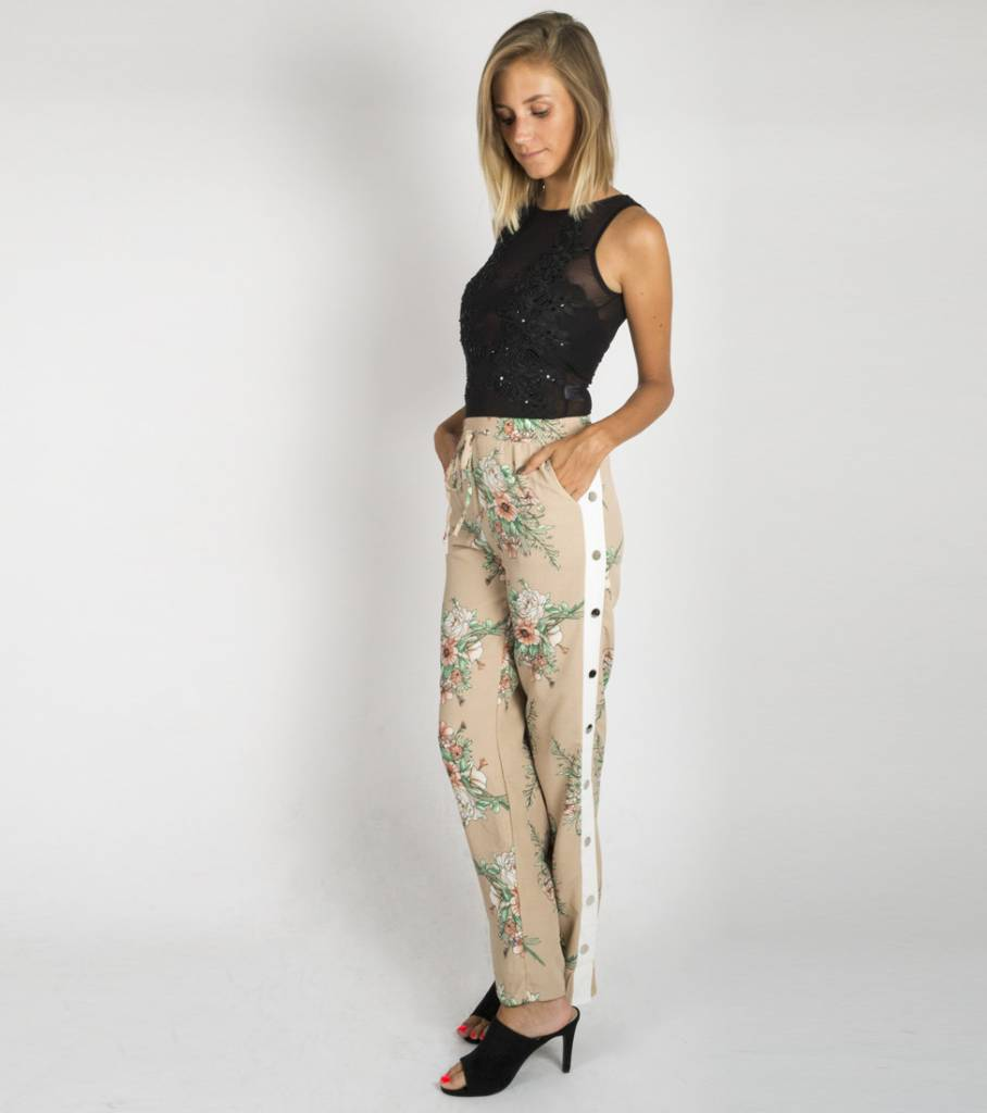 MEADOW FLOWERS PANTS BEIGE