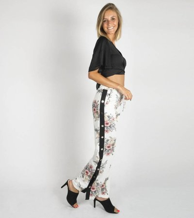 MEADOW FLOWERS PANTS WHITE