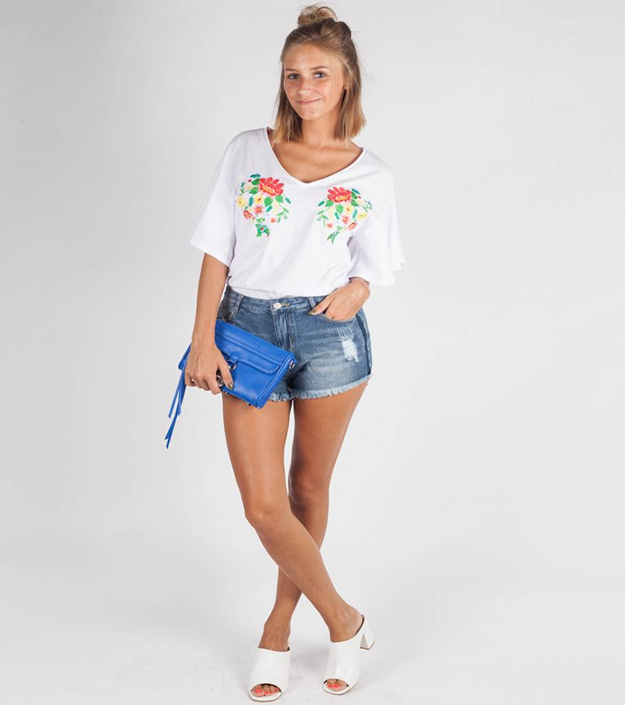 FLOWERS IN COLOURS TSHIRT