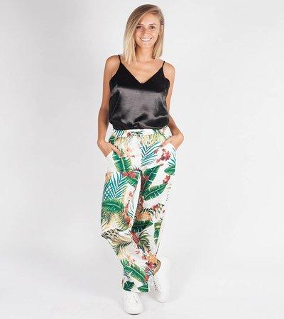 FLOWER FIELD WHITE TRACK PANTS