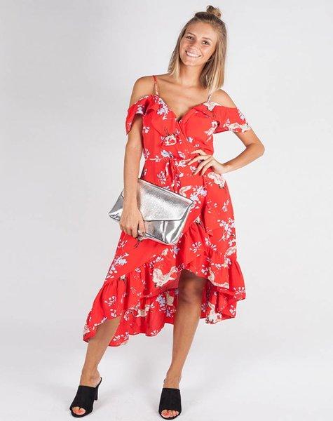 HERON RED MAXI DRESS