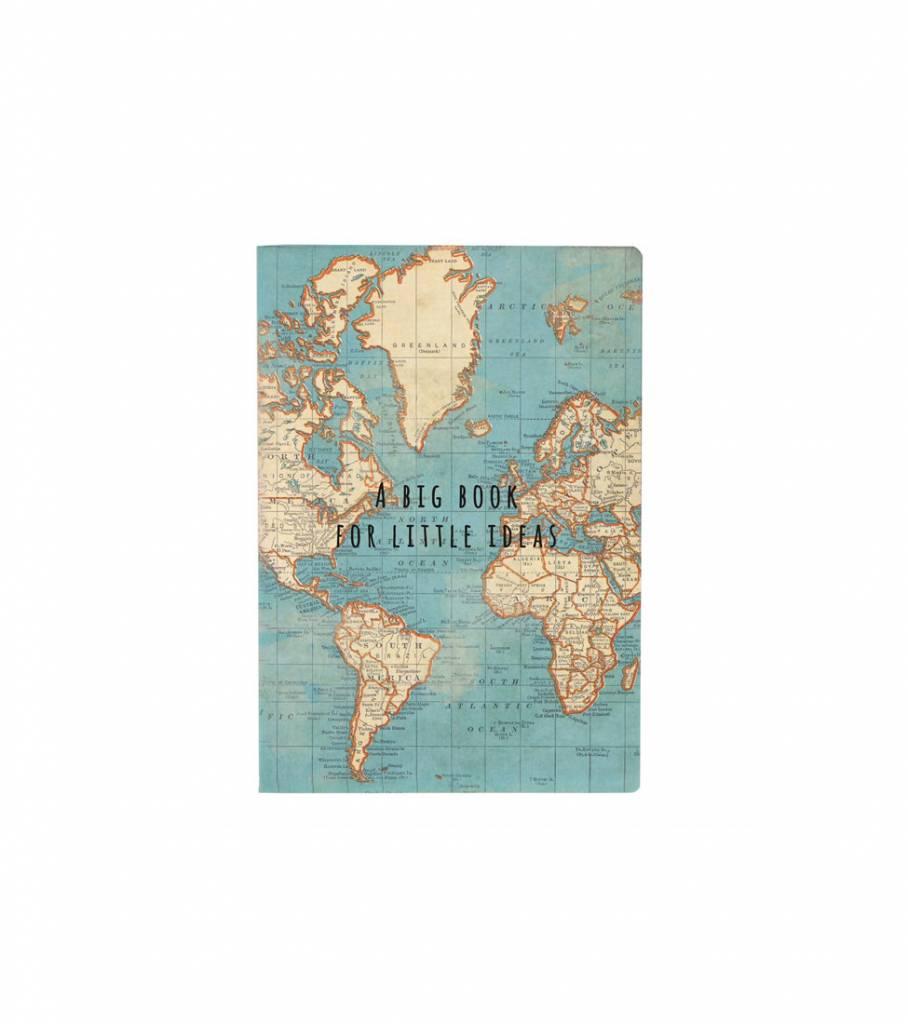 VINTAGE MAP POCKET NOTEBOOK