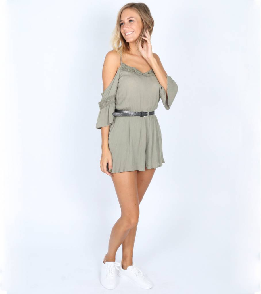 BOHEMIAN KAKI PLAYSUIT