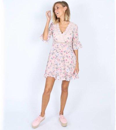 GIRLY FRILL PINK DRESS