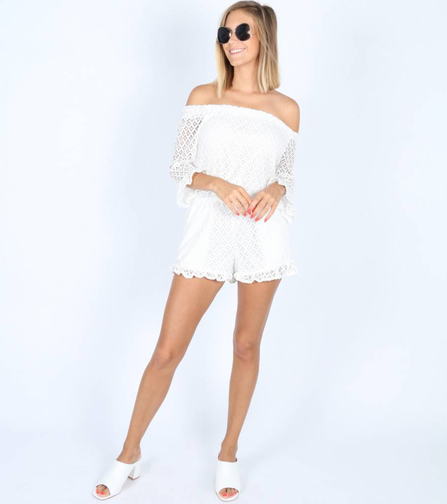WHAT ABOUT WHITE PLAYSUIT