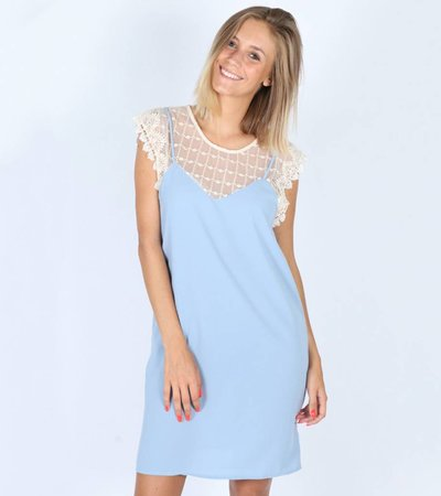 BLUE MARIA LACE DRESS