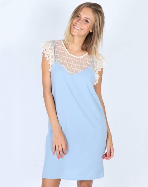 BLUE MARIA LACE DRESS