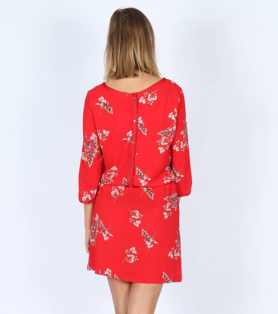 RED FLOWERS IDEA DRESS