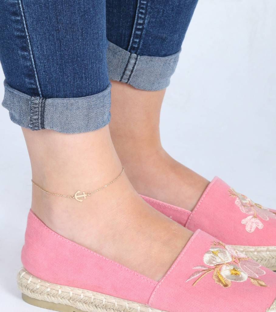ANCHOR ANKLET GOLD