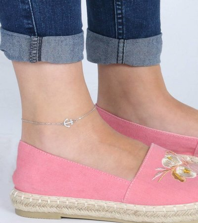 ANCHOR ANKLET SILVER