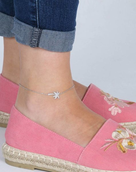PALMTREE ANKLET SILVER