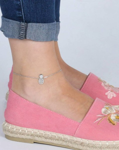 PINEAPPLE ANKLET SILVER
