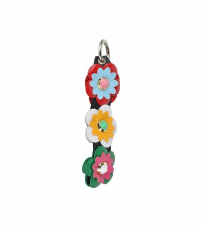 KEY CHARM FLOWER BLACK