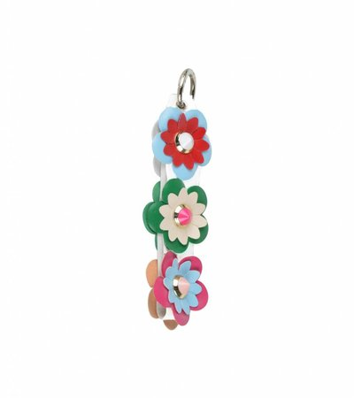 KEY CHARM FLOWERS WHITE