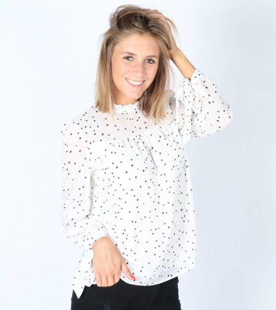 STARRY BLOUSE WHITE