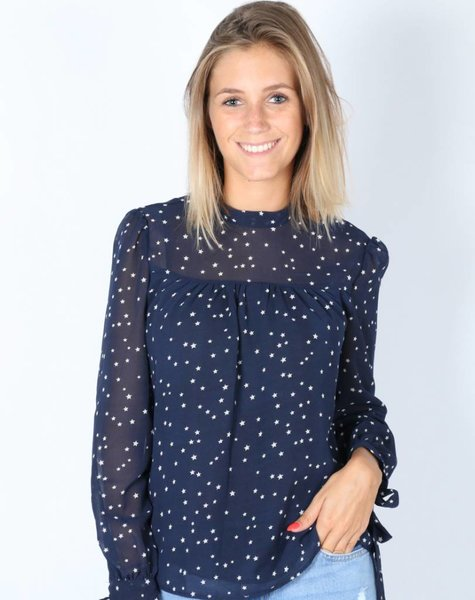 STARRY BLOUSE NAVY