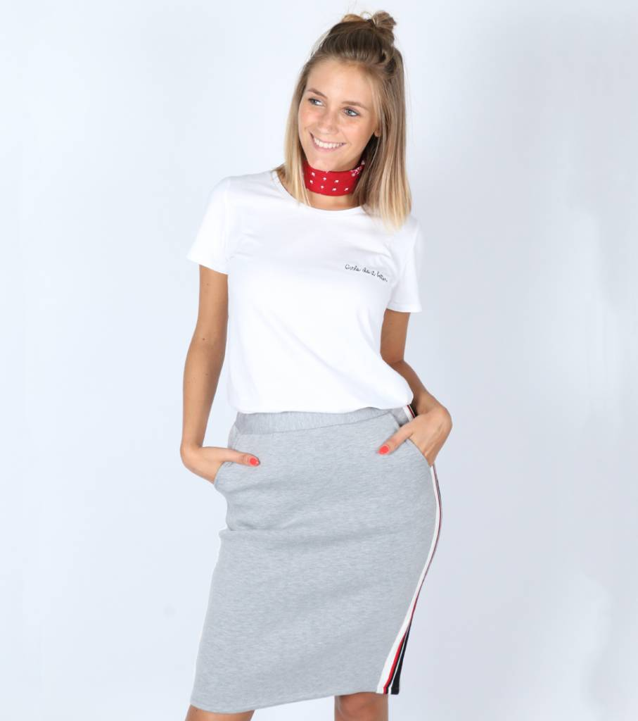 BASIC SWEAT IT GREY SKIRT