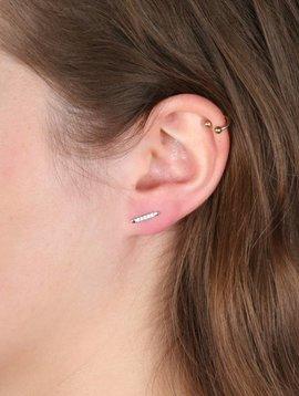 DIAMOND BAR EARRING SILVER