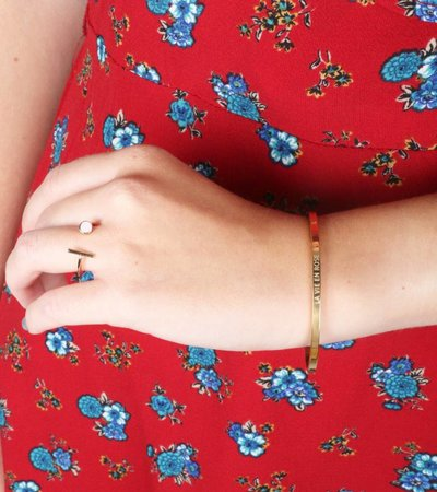 LA VIE EN ROSE BANGLE GOLD
