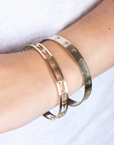 PALMTREE BANGLE GOLD