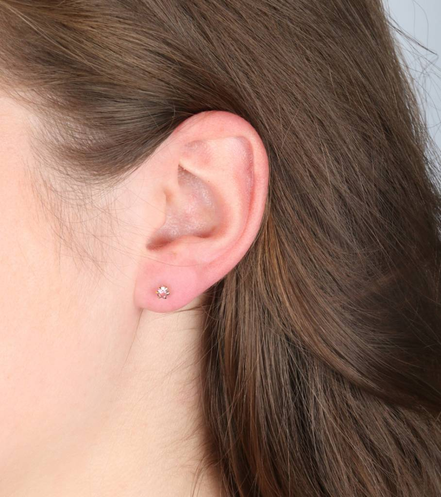SET OF THREE CASUAL EARRINGS GOLD