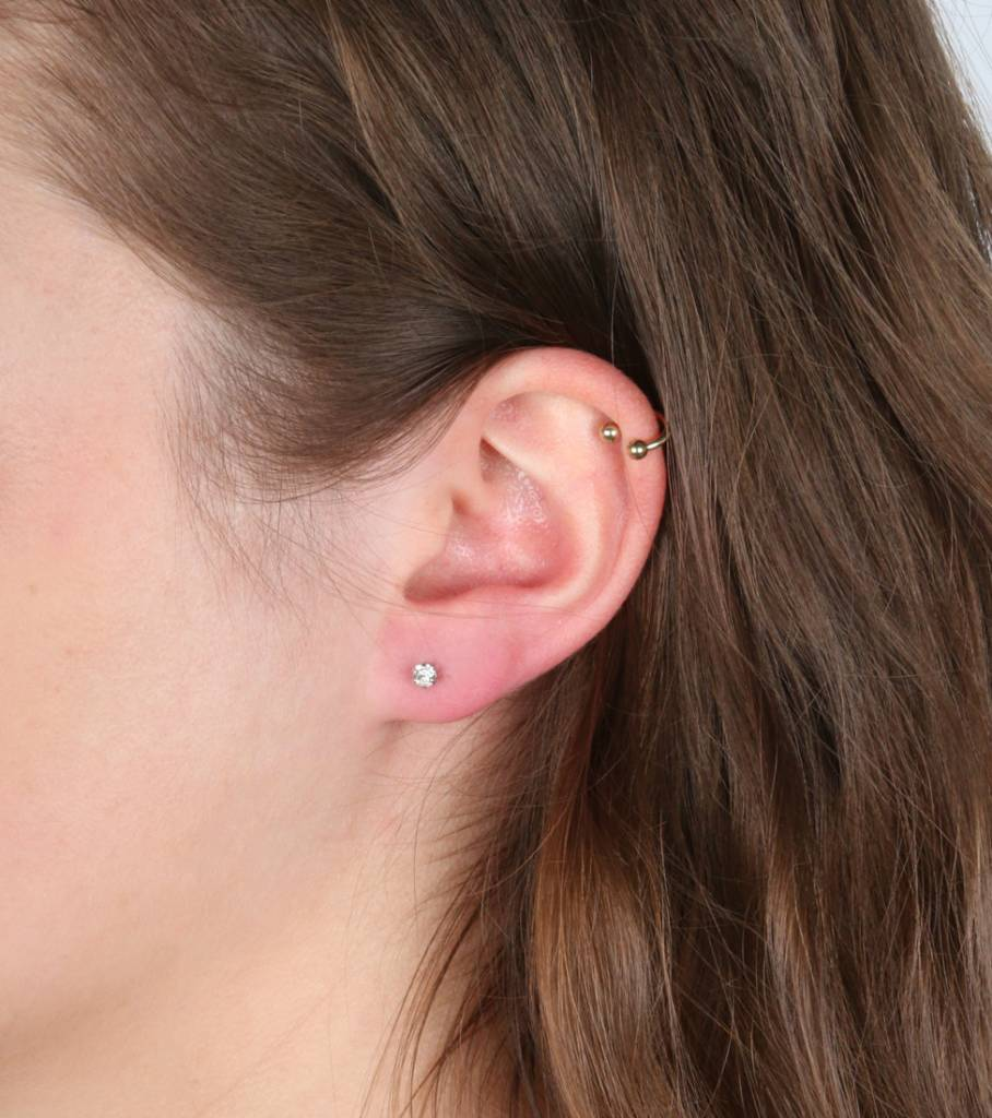 SET OF THREE ROUNDS EARRING SET SILVER