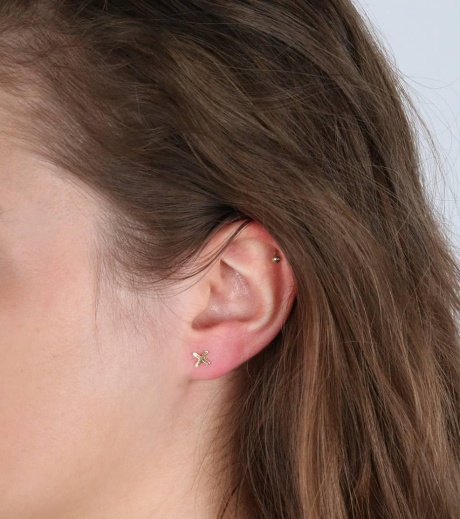 SET OF THREE XO EARRINGS GOLD