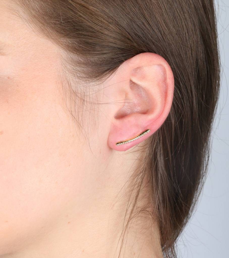 STERLING GOLD EARCUFF