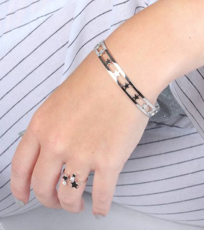 THOUSAND STARS BANGLE SILVER