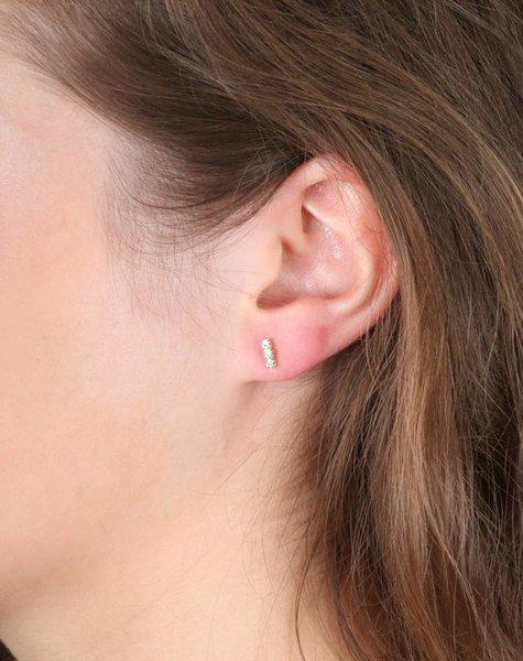 TRIPLE SPARKLE GOLD EARRINGS
