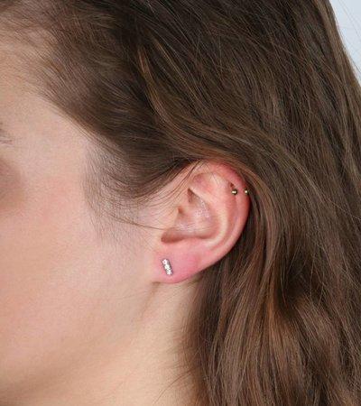 TRIPLE SPARKLE SILVER EARRINGS