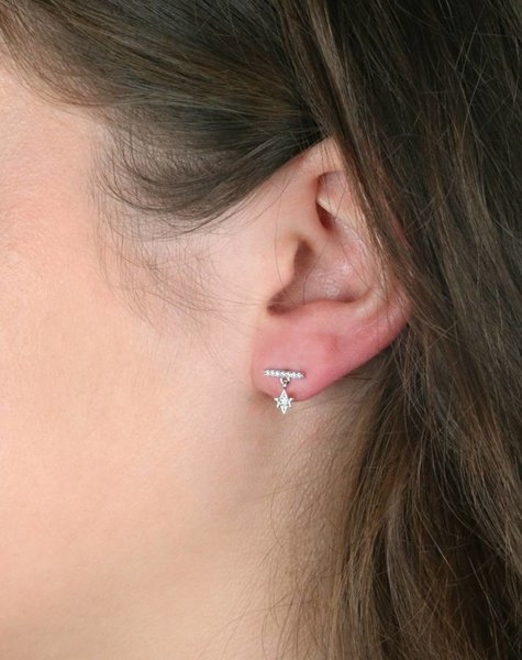 TWINKLE DIAMOND EARRING SILVER