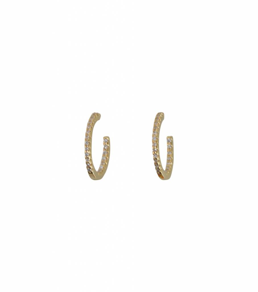 SPARKLING HOOP EARRINGS GOLD