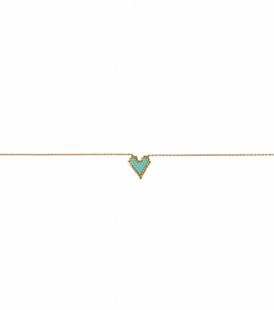 MY HEART GREEN NECKLACE
